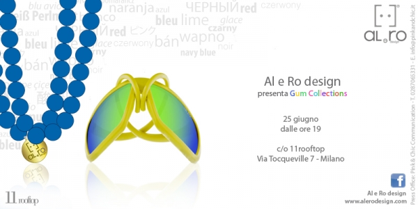Al e Ro Design e 11 rooftop: evento Gum Collection!
